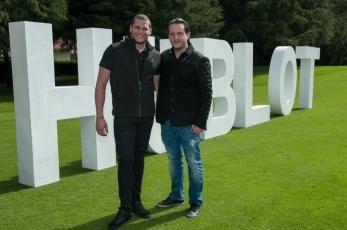 Fabio Rodrigues Brand Manager de HUBLOT y Eric Kogan.