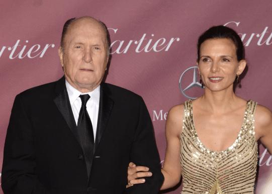 Robert Duvall y su esposa.
