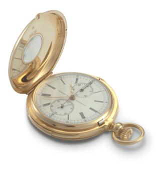 1900: cronógrafo con totalizador de minutos y segundero, posesión de Luis Napoleón.