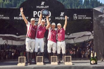 Winners of the Hublot Polo Gold Cup Gstaad 2017