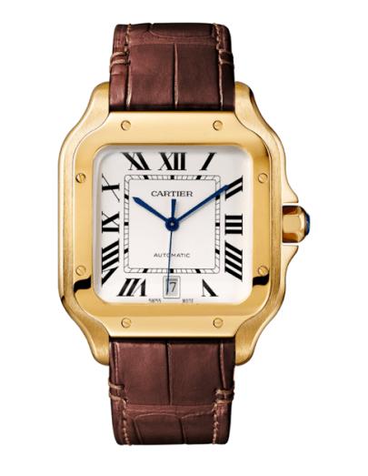 Santos de Cartier modelo grande en oro rosa-