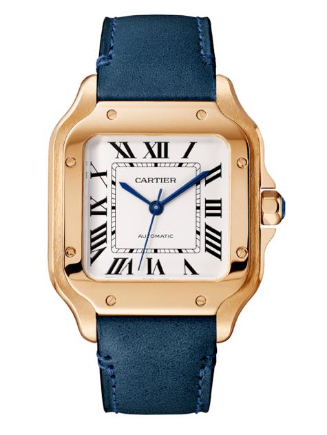 Santos de Cartier modelo mediano en oro rosa