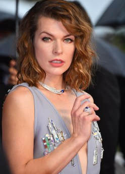 "CANNES, FRANCE - MAY 16: Mila Jovovich attends the screening of ""Burning"" during the 71st annual Cannes Film Festival at Palais des Festivals on May 16, 2018 in Cannes, France. (Photo by Stephane Cardinale - Corbis/Corbis via Getty Images)"