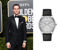 Nicholas Hoult wearing Master Ultra Thin Date' timepiece