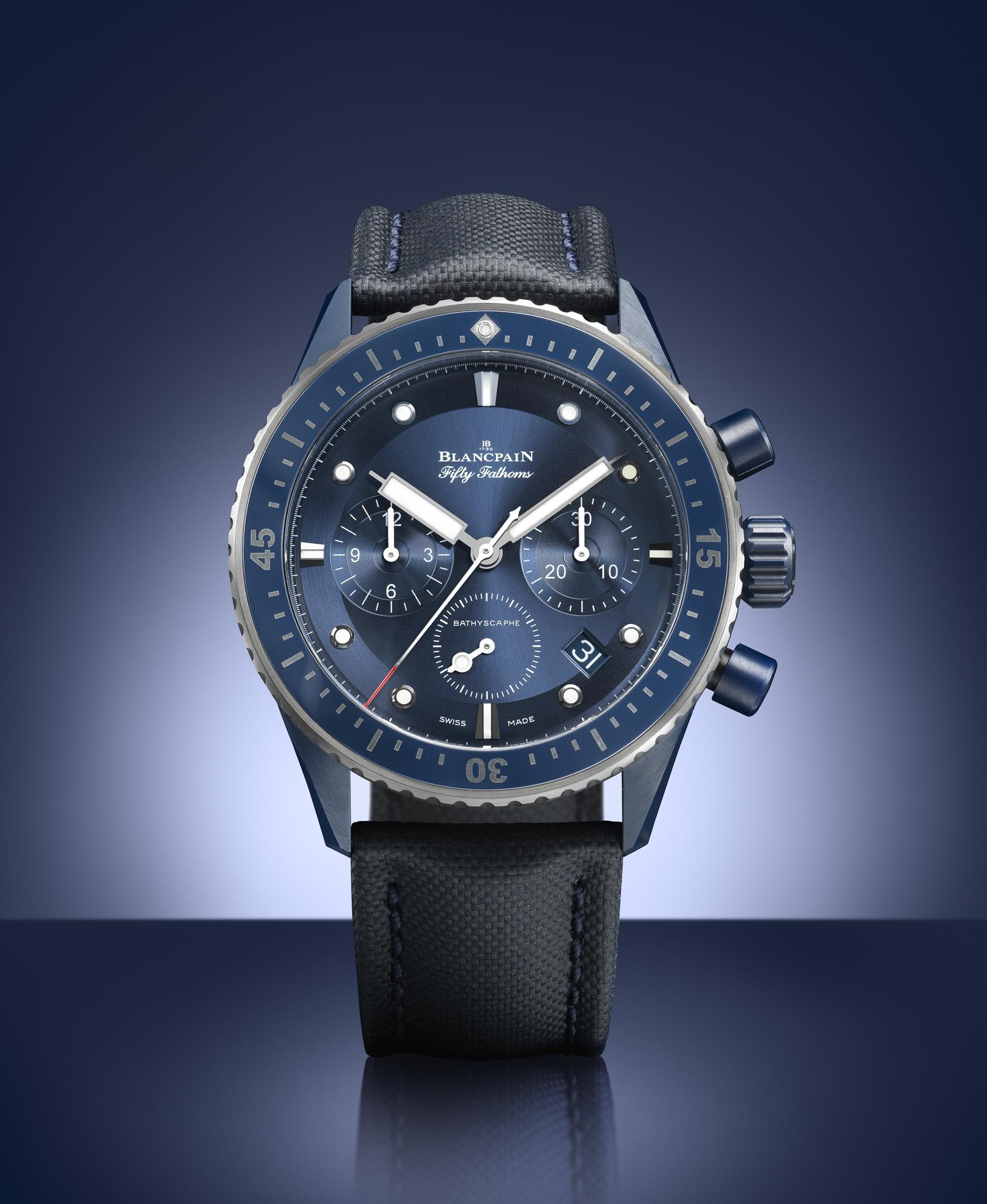 Blancpain Fifty Fathoms Bathyscaphe Bucherer Blue Edition soldat