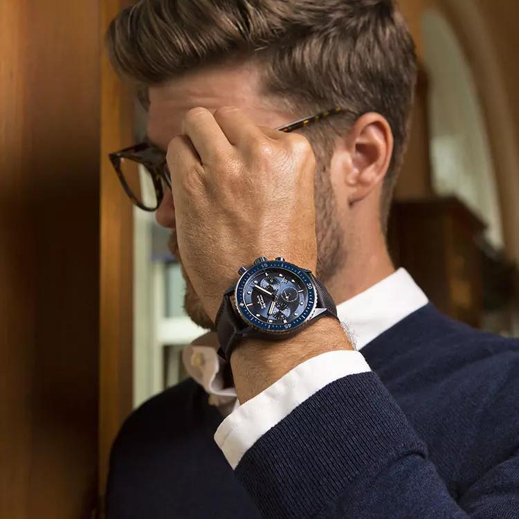 Blancpain Fifty Fathoms Bathyscaphe Bucherer Blue Edition wrist shot