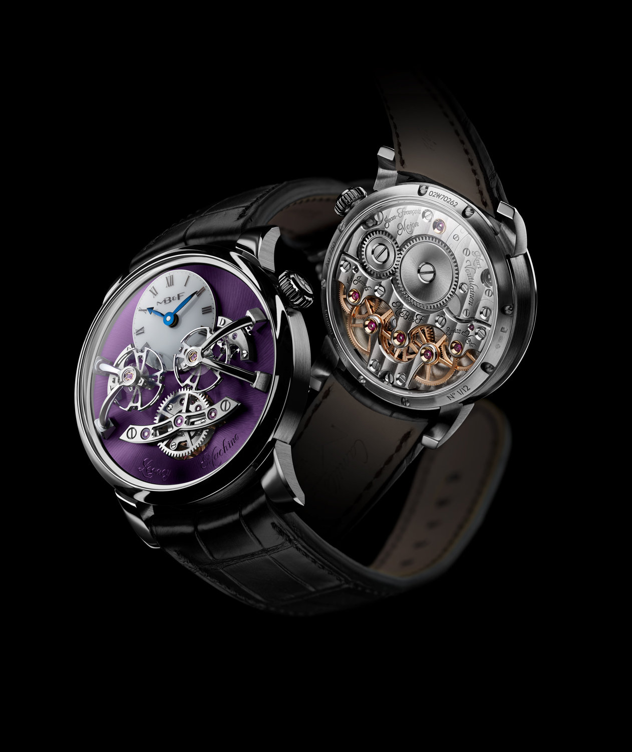 MB&F Legacy Machine No2 White Gold Purple front and back