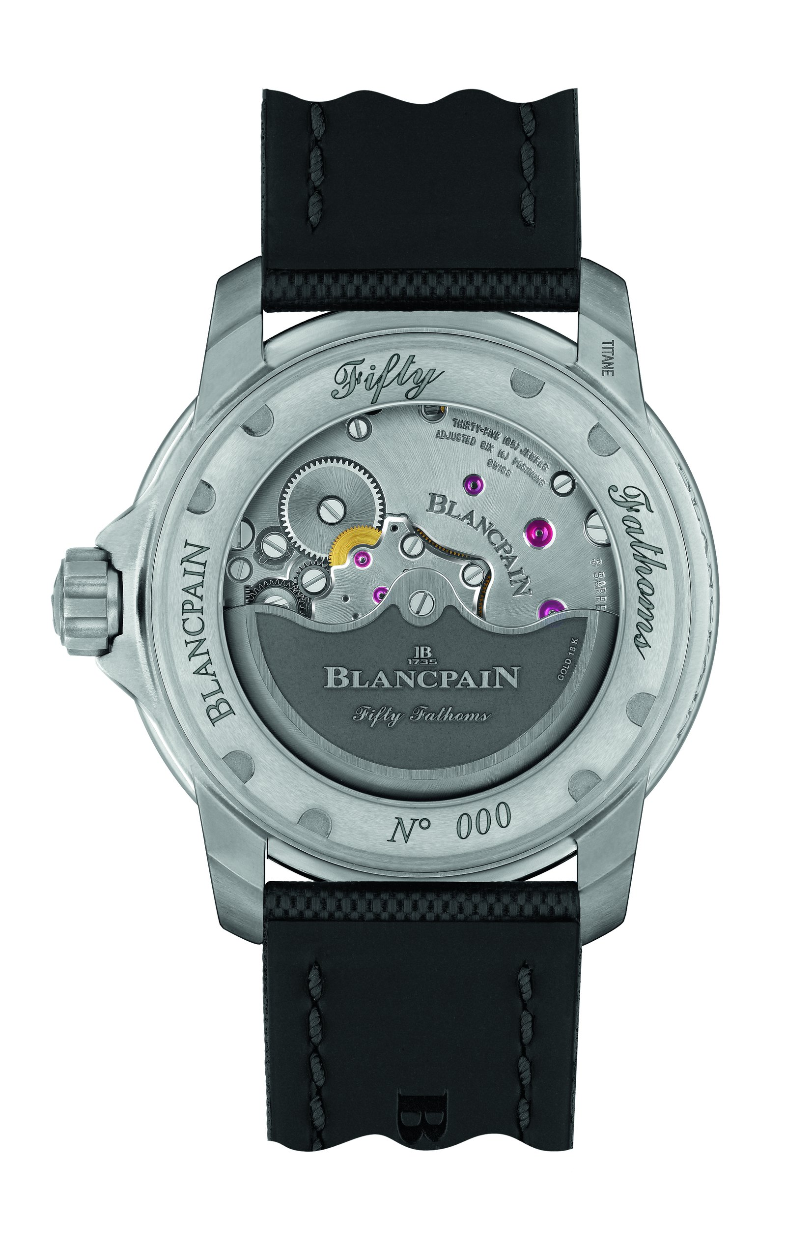 Blancpain Fifty Fathoms Titanium back