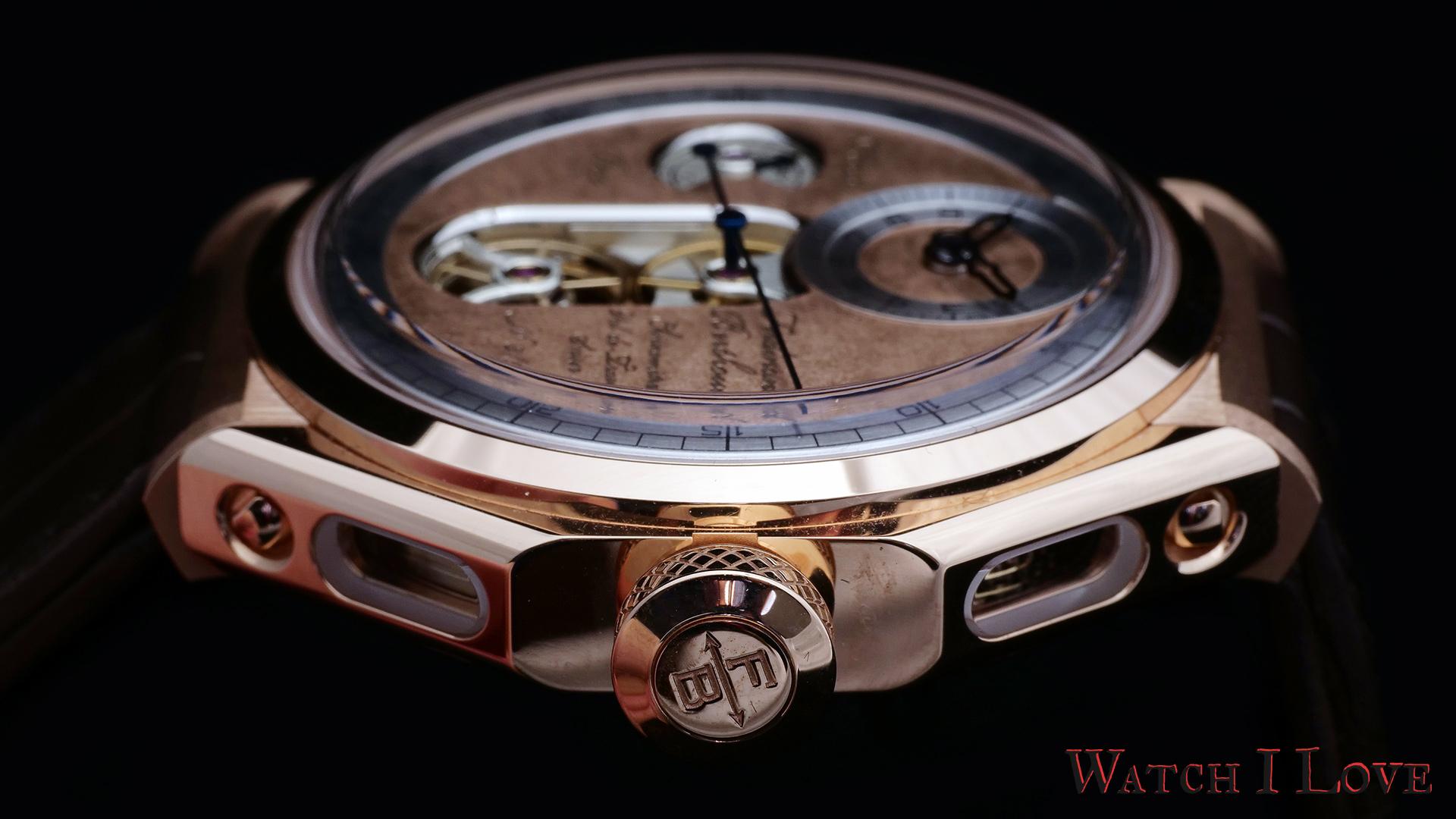 Ferdinand Berthoud Ref. FB 1.2-1 case side with crown
