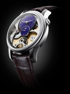 Romain Gauthier Micro-Rotor white gold limited editions - blue enamel