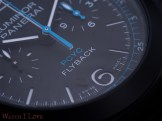 Detail of dial's lower side of the ceramic PAM788
