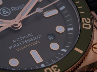 Detail of the green dial