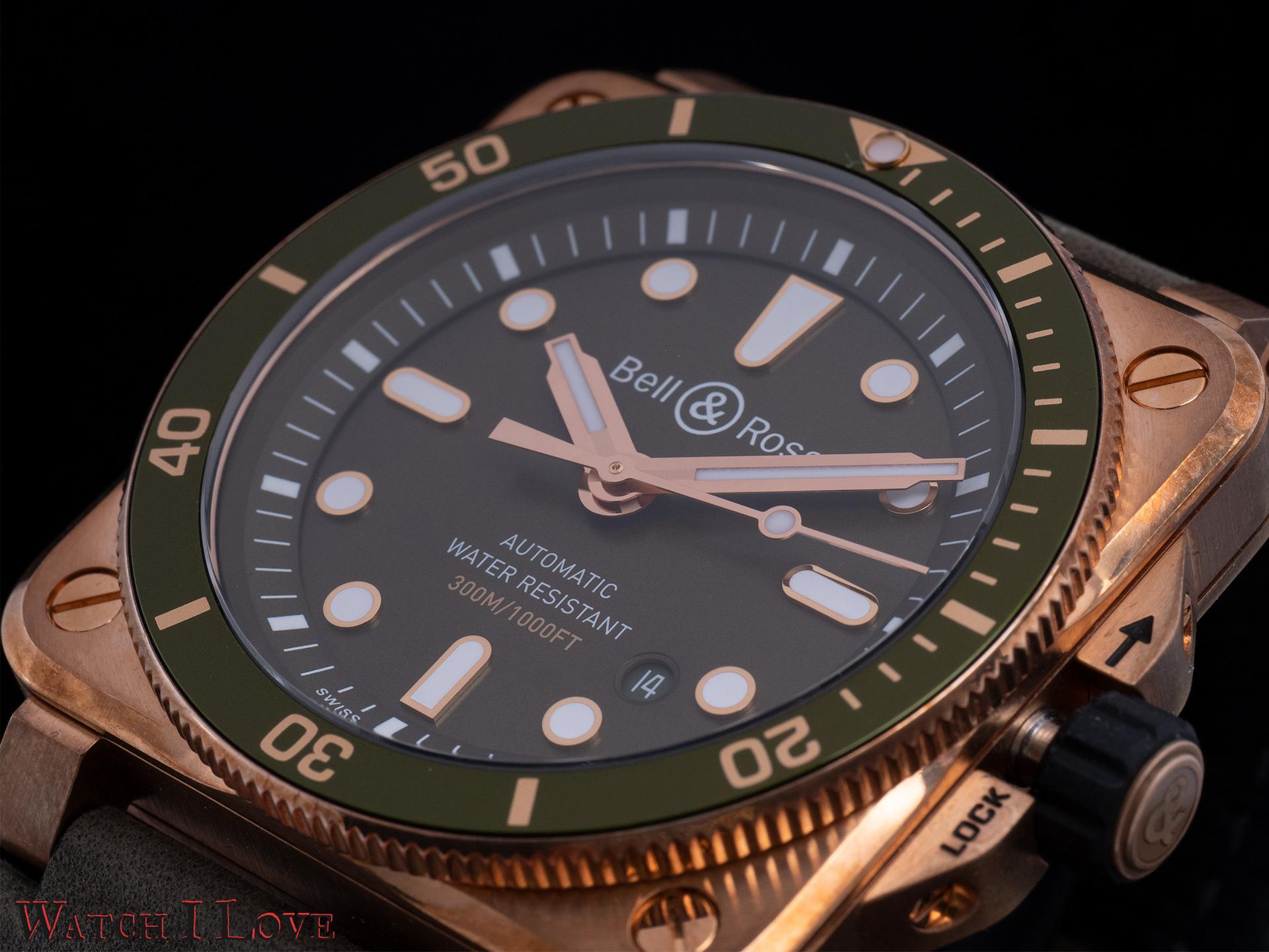 Bell&Ross BR03-92 Green Bronze Diver dial