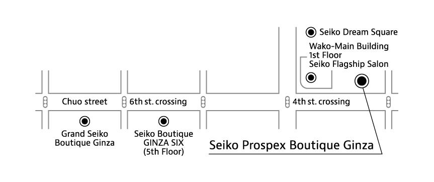 Seiko Prospex Boutique Ginza map