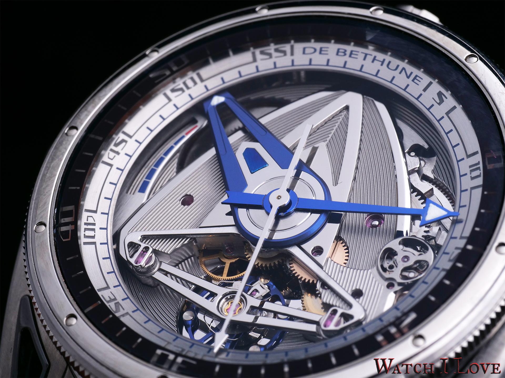 De Bethune DB28GS Grand Bleu dial