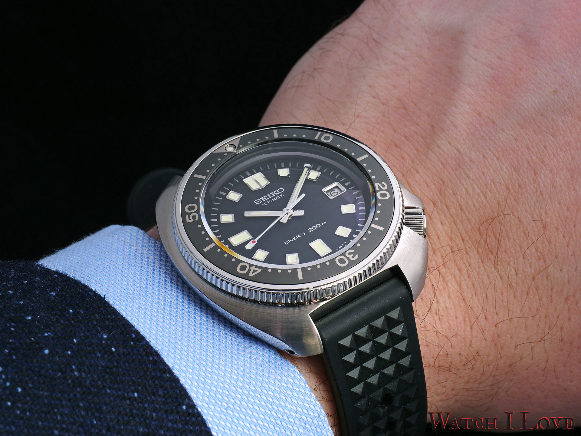 The Seiko SLA033J1 on the wrist