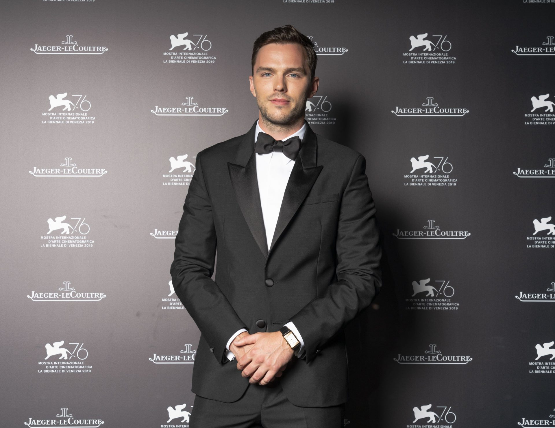 Later in the week, Nicholas Hoult chose the Reverso Large Duoface Pink Gold for the Jaeger-LeCoultre Gala.