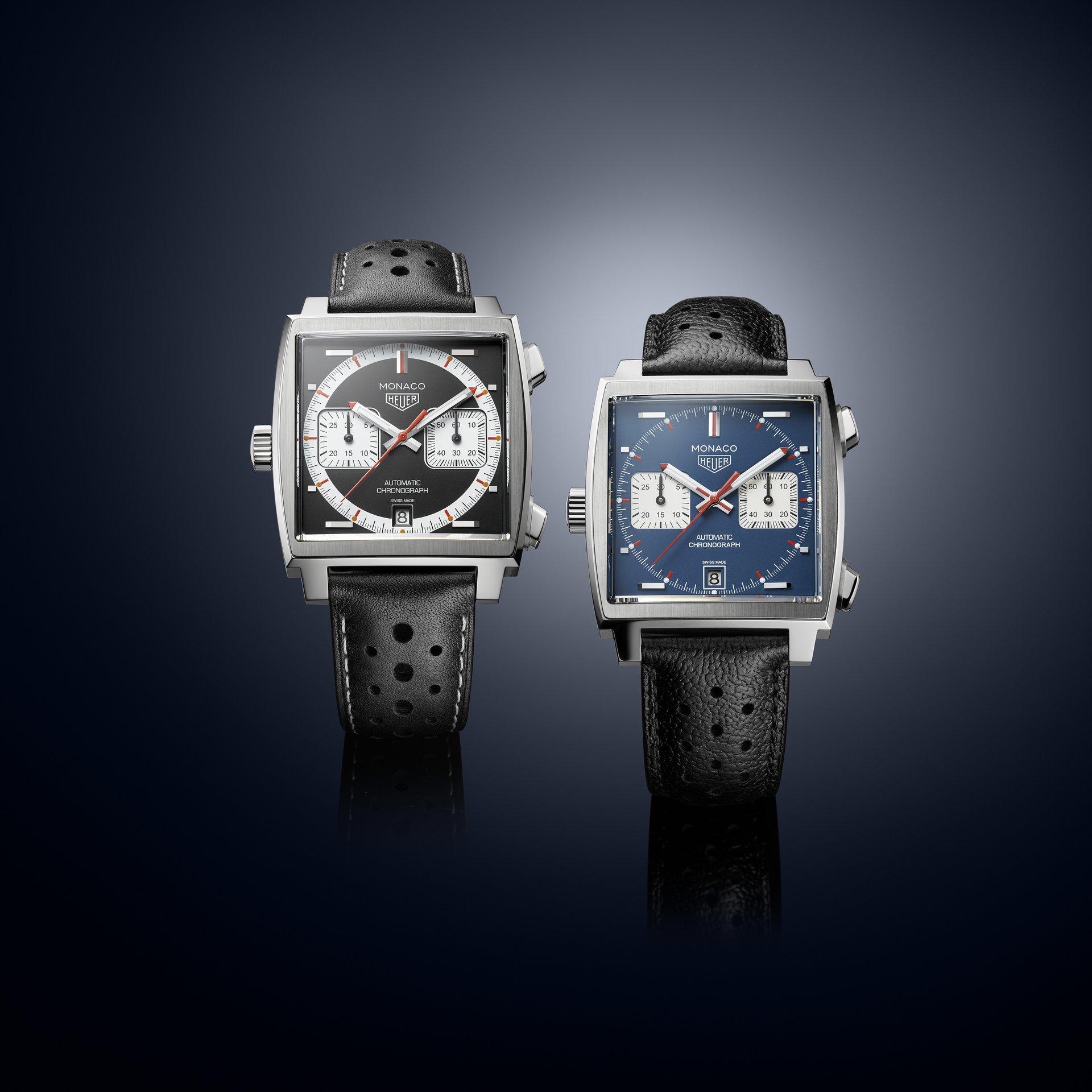 TAG Heuer Monaco Ref. CAW211Y.FC6469 & Ref. CAW211P.FC6356 - Through time 2000's - seduction duo