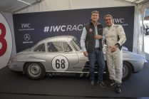 "AROSA, SWITZERLAND – 01. September 2019: Linus Fuchs, IWC Managing Director Switzerland and Bernd Schneider attended the 15th Arosa Classic Car where the IWC Racing Team showed up on the grid for the second time. Bernd Schneider drove the Mercedes-Benz 300 SL ""Gullwing"" on the winding 7.3 kilometre hill-climb route from Langwies to Arosa. (Photo by Ilja Tschanen, module+ for IWC)"