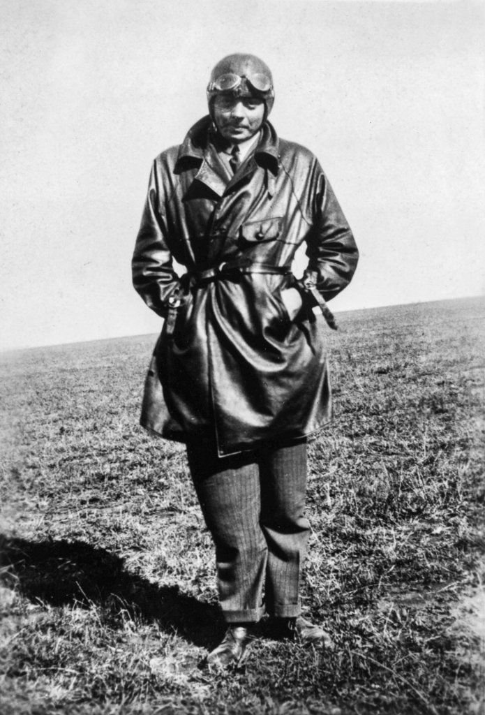 Antoine de Saint Exupéry in his pilot's uniform at the Pacheco Air base in Buenos Aires, Argentina, 1929/1931. © Antoine de Saint Exupery Estate.