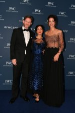 """Hamish Scott, CEO Positive Luxury Diana Verde Nieto and CMO IWC Schaffhausen Franziska Gsell attend the IWC Private Dinner, held at Haute in Zurich on 5 October, 2019. During the event, Australian actor and IWC brand ambassador Cate Blanchett presented the 5th Filmmaker Award. The film """"Wanda, my miracle"""", directed by Bettina Oberli and produced by Lukas Hobi and Reto Schärli, was declared the winner by the jury. The award, which is worth CHF 100,000, supports outstanding Swiss film projects that are in the production or post-production stage. (Photo by Harold Cunningham/Getty Images for IWC)"""
