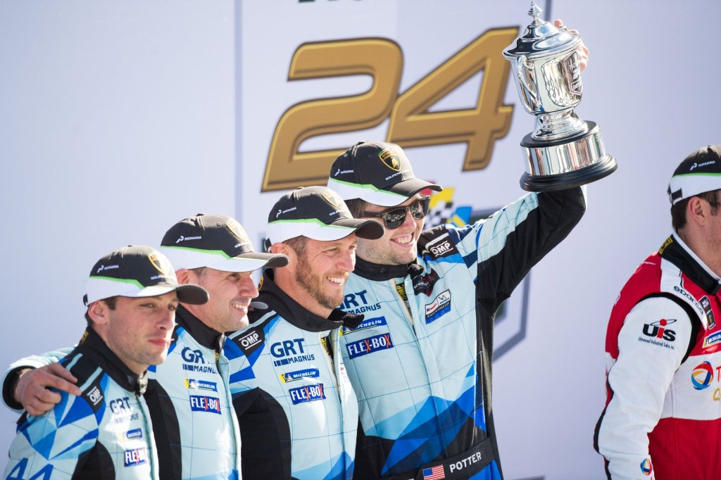 Lamborghini celebrates third victory at the 24 Hours of Daytona