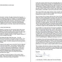 Ergonomic Chair Justification Revolving Autocad Block Mcclure Bans Ledonne From Campus Responds