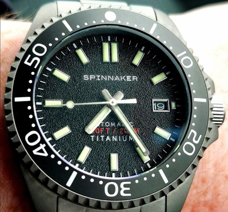Spinnaker Tesei Titanium SP-5084-11 Black Dial