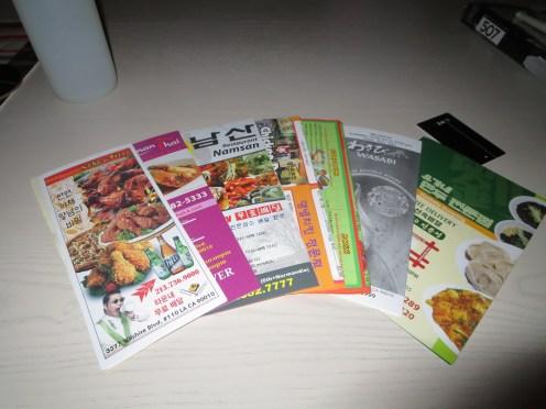 9) Koreatown menus