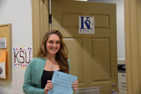 Marie Dolcetti-Koros, the KSU's financial vice president. (Photo: Alexander Johnson)