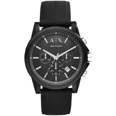 Armani Exchange Men's Chronograph Silicone