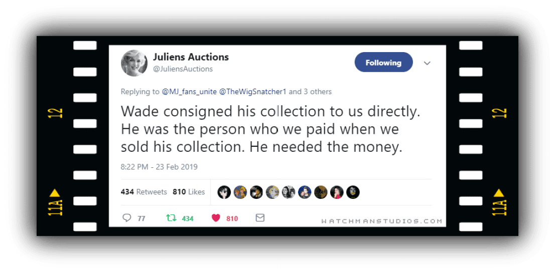 Julien's Auction's (counter-tweets)