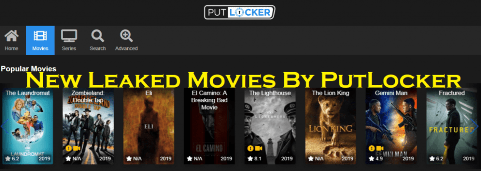 New Leaked Movies By PutLocker