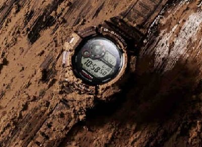 watch covered in mud