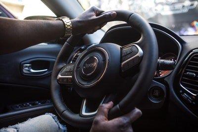 Car driver wearing watch