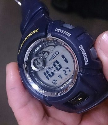 scratched watch