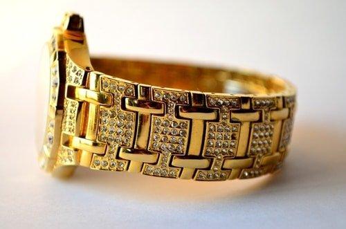 fancy gold watch