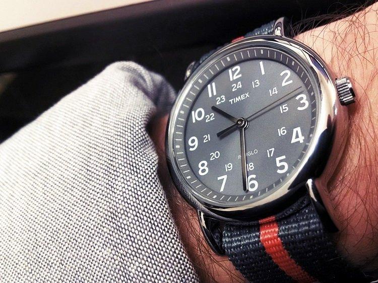 Timex Indiglo on Man's wrist