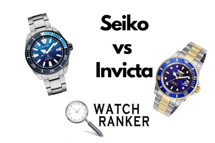 invicta and seiko watches