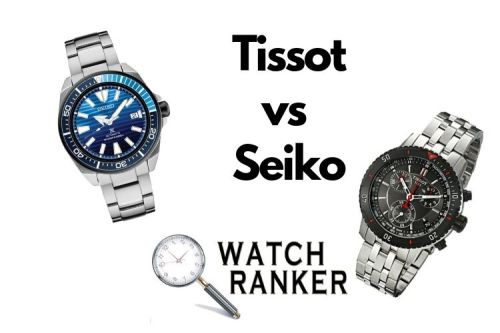 tissot watch and seiko dive watch