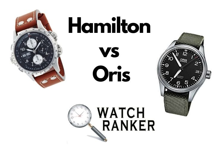 oris and hamilton watches side by side