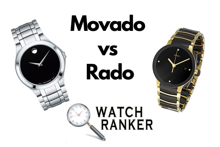 rado and movado watch side by side