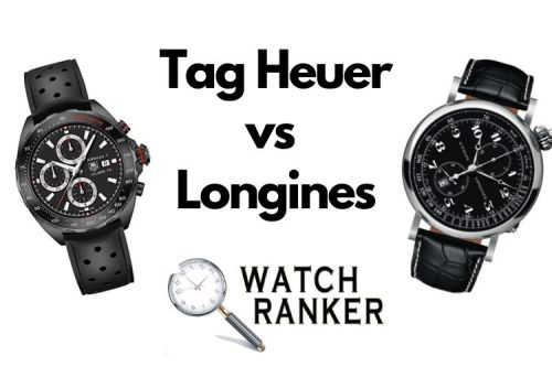 tag and longines watches side by side