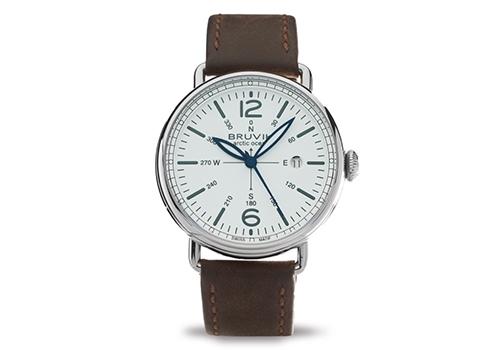 Bruvik Fine Timepieces Arctic Ocean One White
