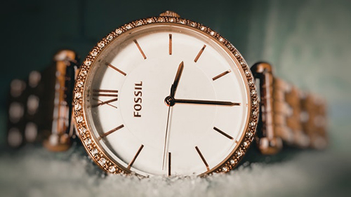 round fossil watch for women