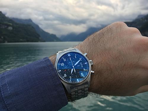 Wearing IWC watch