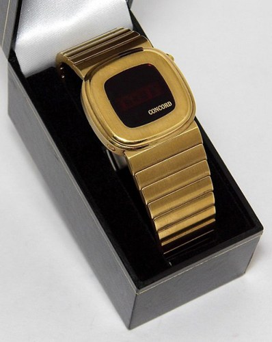 Gold Concord watch