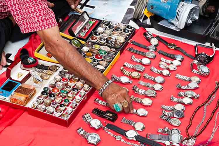 Flea market in Kuala Lumpur, Malaysia