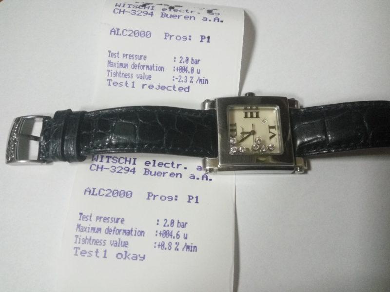 Тестування герметичності годинника
