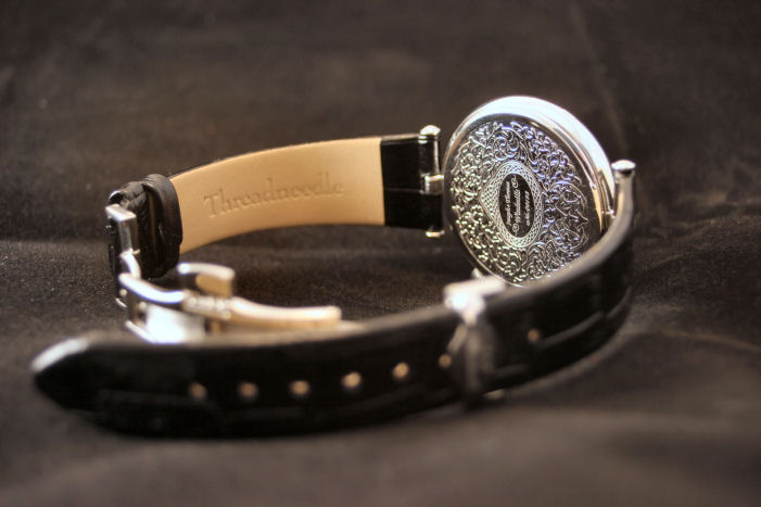 Decorated back with individual watch number